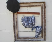 Baby boy prop,Baby boy smash outfit,  Nappy Cover, Diaper Cover set, Diaper Cover cover and bib set, plaid black and grey diaper cover