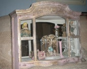 OOAK Gorgeous Vintage Up cycled Syroco Mirrored Shelf, Shabby Chic, Florentine Style