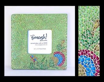 Chrysanthemum - 3.5x3.5 Glass Mosaic Picture Frame
