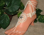 Pearl Foot Jewelry, Barefoot Sandal, Bridesmaid Anklet Thong, Beaded Barefoot, Affordable, Inexpensive, Female Ankle Bracelet, Jewelry