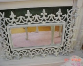 Mirror Wrought Iron Painted French Shabby Chic Cottage Farmhouse