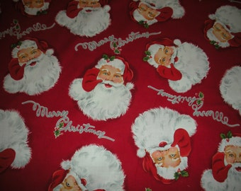 Merry Christmas Santa - Alexander Henry Fabric 1 Yard