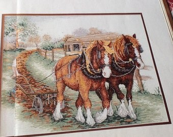 ANCHOR - Shire Horses - Cross Stitch Pattern Only