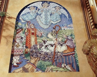 Religious -GLAD TIDINGS - Cross Stitch Pattern Only