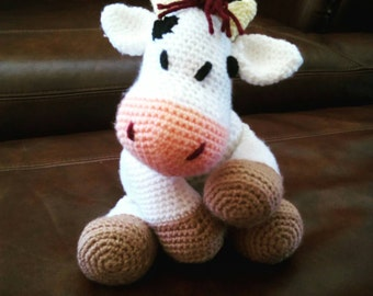 Crochet Dairy Cow Stuffed Animal