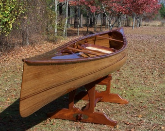 "Wooden Canoe, 17' 8"" Solo ""Evensong"" Tripping Model, Ancient Cypress and Ancient Kauri Wood Carbon Dated at 45,000 and 50,000 years old"