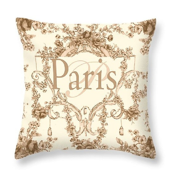 Paris french rococo style art decorative throw by royalrococo for What is the other name for the rococo style