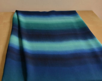 Blue Stripes Chiffon Gauze Fabric 1/2 yard MJ211