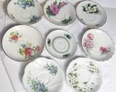 Vintage Teacup Saucer Set of Eight (8) Wedding Shower Tea Party Gift
