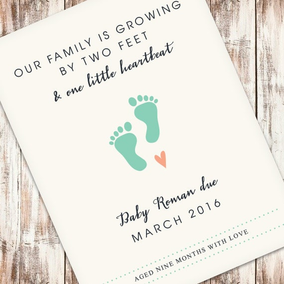 Custom Wine Label Pregnancy Announcement Our Family