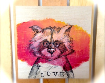 Mr. Raccoon from the LOVE Series