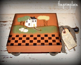 Primitive Fall Decor-Handpainted Cutting Board