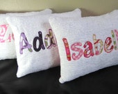 Personalized Chenille Name Pillow Cover, 12x16