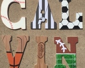 Wooden Sports Letters - W...