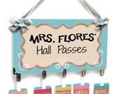 teacher classroom hall passes bright pastel colors - HP61