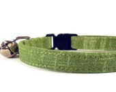 Cat Collar, GRASS, Small Dog Collar, Handmade