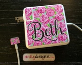 Customizable Lilly Pultizer Inspired MacBook Charger Wrap Set - Any MacBook Charger