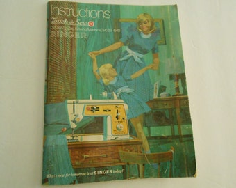 Touch and Sew instruction booklet SINGER  1969