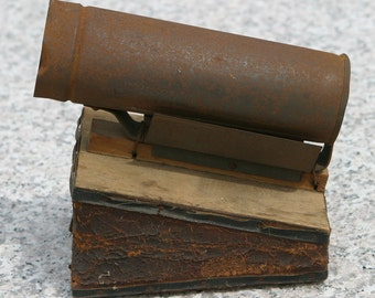Primitive Rare T. F. BINGHAM BEE Pat. 1902 Smoker Apiary Equipment for Beekeepers All Leather Billows Hand Applied Tin Work