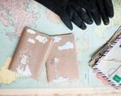 """Romantic Honeymoon Gift Nautical Couple Passport Covers """"Pirates"""""""
