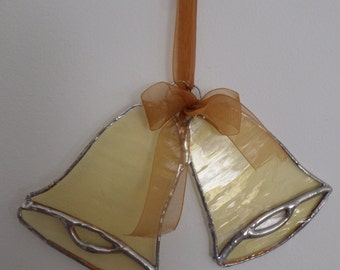 Stained glass suncatcher,  bells,  tree decoration,  Thanksgiving,holidays