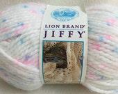 Lion Brand Jiffy Jiffy Mohair Look Pastel Soft Baby White Pink Blue Sarasota