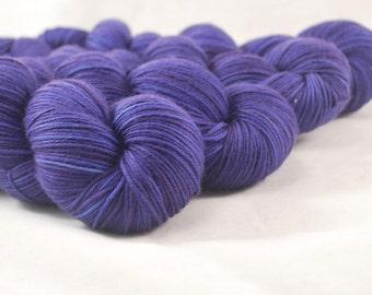 Hand Dyed Merino / Nylon Sock Yarn Tonal Purple