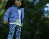 RESERVED Wisteria Jacket with Criss Cross Tissue Tee and Floral Pants