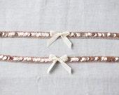 Blush Garter Set, Simple blush pink garter, Shiny light pink Sequin Bridal Garters, soft pink blush garter set, vintage style garters