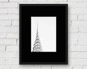 New York Chrysler Building, NYC: 5x7 Matted Photo