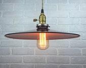 Metal Shade Pendant Light - Industrial Lighting - Hanging Lamp - Edison Bulb Pendant Lamp