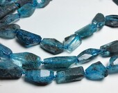 Raw Blue Quartz Faceted Nugget Beads 15mm - 25mm