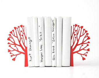 Metal Bookends // Love and books // modern home functional bookshelf decor // housewarming gift for book lovers // FREE SHIPPING WORLDWIDE