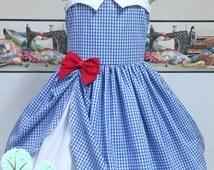 Dorothy Inspired  Dress, Co-play, Disney, School Play, Custom Costume, Birthday, Dress-up, Children sizes, Disney Vacation, Wizards of OZ