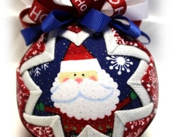 Santa Baby Unique Handmade Keepsake Quilted Christmas Ornament
