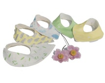 Baby Dribble Bib, Choice Of Original Fabric Designs, Absorbent Organic Bamboo Fleece Lining, bandanna bib