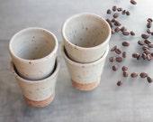 Espresso cups coffee cups ceramic tumblers italian espresso coffee cups small coffee mug gift for coffee lovers Set of 4 espresso cups