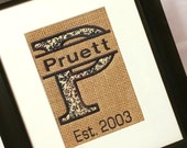 Personalized Burplap Inlay for Picture Frame