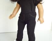 18 Inch Doll Clothes -- Black Denim Jeggings -- Single Item (5-37)