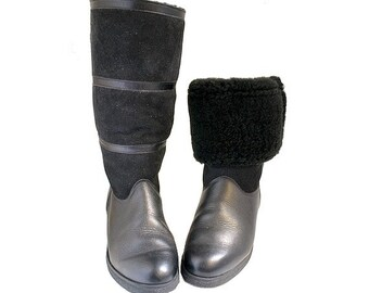1980 sheepskin boots  winter made in france size us7.5 women fr39 uk5.5