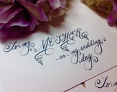 Custom Wedding Calligraphy ~ Dinner Menus, Dessert Menus, Bar and Drink Menus ~ Affordable ~ Handwritten Letters ~ Steel Nib Dip Pen
