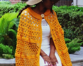 The Storybook Handmade Crochet Cape Pattern. Instant Download!