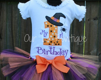 Halloween Birthday - My 1st Birthday Shirt - Halloween Shirt - Personalized Halloween Shirt - Girl - Babies 1st Halloween