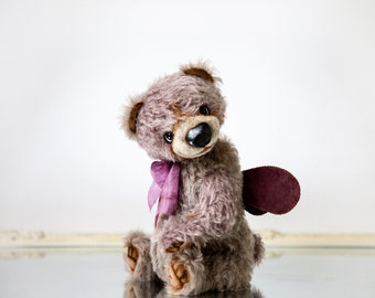 Mohair Teddy bear Kygo + FREE shipping - Artist Teddy bear - Collectible bear - Teddy bear doll - Keepsake gift