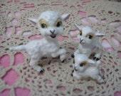 Lambs, Frolicking Lamb figurines Lefton ? Hagen Renaker Lambs ? Lamb, Lamb Figurine, Figurine, Collectible Figurine, Vintage Home Decor :)S
