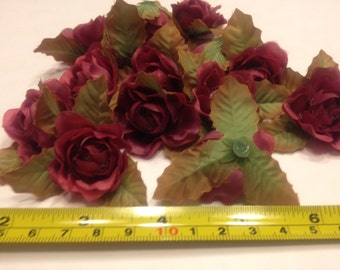 10 fabric Rosebuds, 50 mm (BR)
