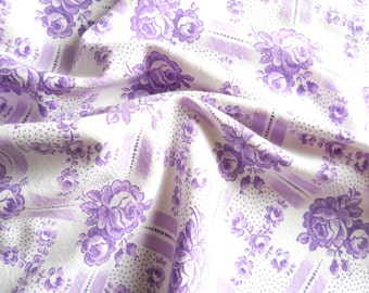 french floral fabric 1930's french fabric vintage fabric antique floral fabric lilac fabric cotton fabric 167