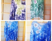 Handmade Hawaiian - Tunic Legging Set - Plus Size Top - Hawaiian Handmade - Cotton Tunic - Woman Tunic Top - Hand Painted T Shirt - Kauai