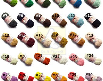 40g/1.4oz Wool Yarn Doll Yarn Specifically Designed For Crochet Doll Acrylic Yarn 30 Colors can be choose