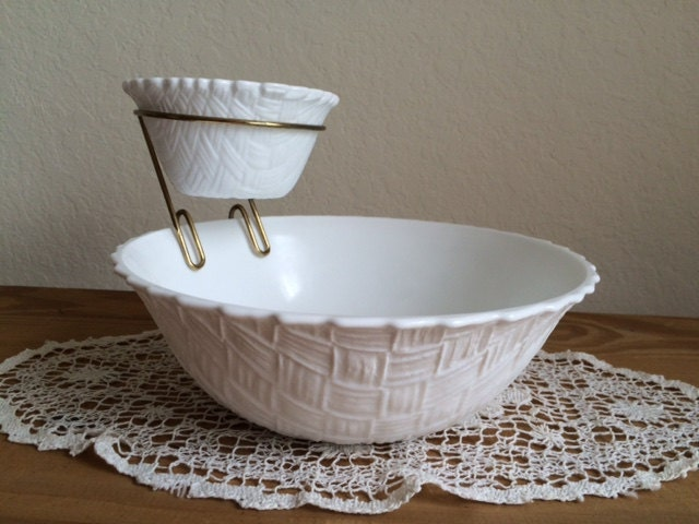 Basket Making Supplies Indiana : Sale vintage indiana glass chip and dip milk